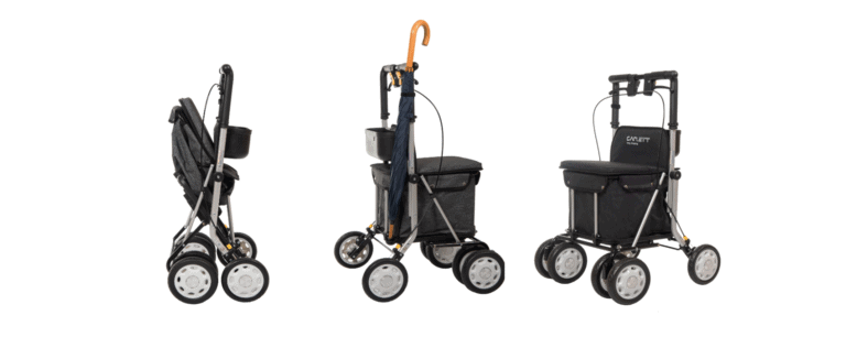 A brand new walker and seat combined
