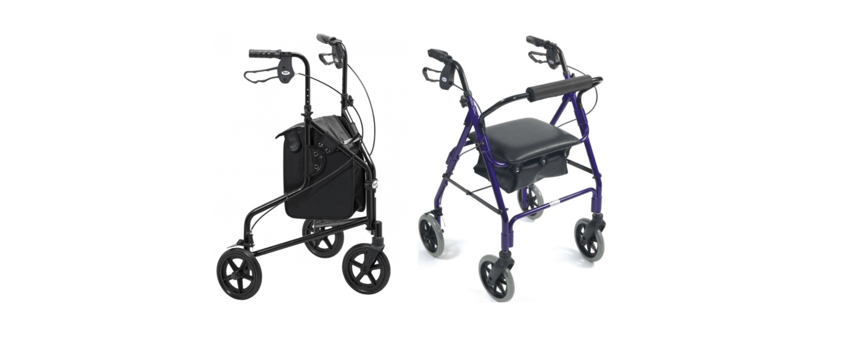 New walkers and rollators now in our shop